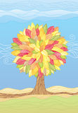 Autumn Tree /  illustrations Stock Image
