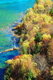 Autumn tree and lake in jiuzhaigou Royalty Free Stock Image