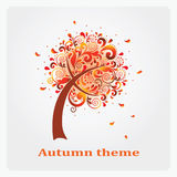 Autumn tree of the leaf pattern. Stock Photos