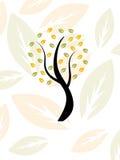 Autumn tree modern design silhouette. Retro Stock Photography