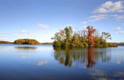 Autumn Tree Reflections Royalty Free Stock Photos