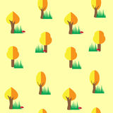 Autumn tree seamless pattern background Stock Photos