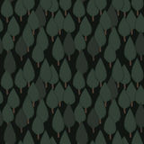 Autumn tree seamless vector pattern. Dense green hand drawn night forest. Background repeat texture Royalty Free Stock Photos