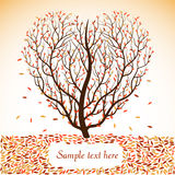 Autumn tree with space for text. Vector illustration Stock Images