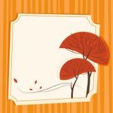 Autumn tree vector. Abstract style autumn tree vector Royalty Free Stock Photos