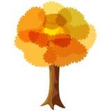 Autumn tree. Vector illustration of abstract autumn tree stock illustration