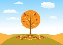 Autumn tree vector illustration. Art Stock Image