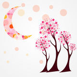 Autumn Tree Vector Illustration. Royalty Free Stock Images