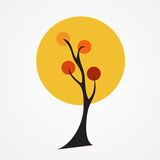 Autumn tree vector illustration. On white Background. EPS10 vector illustration
