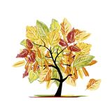Autumn tree for your design Royalty Free Stock Photos