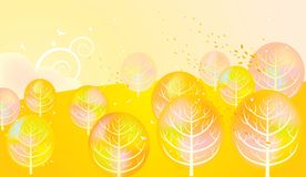 Autumn trees. Abstract autumn golden trees background Royalty Free Stock Images
