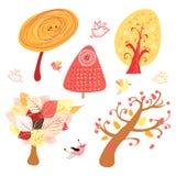 Autumn trees stock illustration