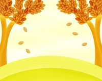 Autumn Trees Background Painting Royalty Free Stock Photo