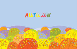 Autumn trees banner Stock Photo