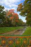 Autumn trees on channel coast. Stock Photography