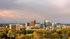 Autumn trees in the city of Boise Idaho Stock Photo
