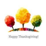 Autumn Trees dipinto tre nei colori differenti Fotografie Stock Libere da Diritti