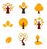 Autumn trees icons Royalty Free Stock Photo