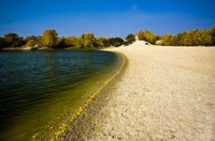Autumn trees and lake Stock Photo