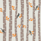 Autumn trees pattern Royalty Free Stock Photos