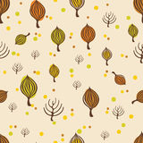 Autumn trees pattern. For design wrapping paper, scrapbooking, textiles, sites Stock Image