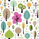 Autumn trees pattern Stock Image