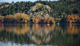 Autumn Trees Reflection Stock Photo