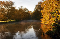 Autumn Trees by The River Soar, Quorn Stock Photos