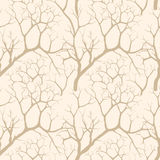 Autumn trees seamless pattern Stock Photos