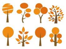Autumn trees set vector illustration Stock Photo