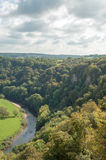 Autumn trees in Symonds Yat, Herefordshire, the British countryside. Stock Images