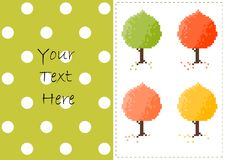 Autumn trees vector card Royalty Free Stock Photo