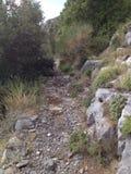 Autumn Trekking Path Positano Immagini Stock Libere da Diritti