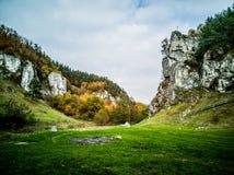 Autumn trekking tour stock images