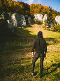 Autumn trekking tour royalty free stock image