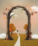 Autumn trellis Stock Image
