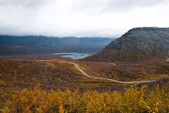 Autumn tundra. View from the mountain on an autumn tundra Royalty Free Stock Images