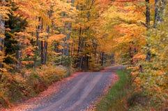 Autumn on Tunnel Road Stock Photo