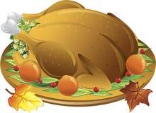 Autumn turkey dinner Stock Image