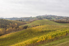 Autumn in Tuscany, Italy. Near San Gimignano stock photography