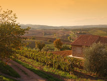 Autumn Tuscany landscape Royalty Free Stock Photography