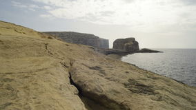 Autumn twilight on the rocky coast. Autumn twilight on the rocky coast on Malta stock footage