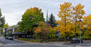 Autumn twilight in Tampere Royalty Free Stock Image