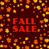 Autumn typographic. Fall leaf. Vector illustration EPS 10 Stock Photos
