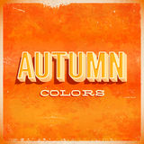 Autumn typographic grunge poster. With 3D letters Stock Photo