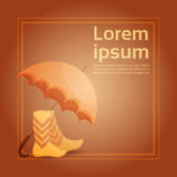Autumn Umbrella Boots Fall Banner Abstract Background Royalty Free Stock Photo