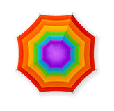 Autumn Umbrella Rainbow Vettore Fotografia Stock