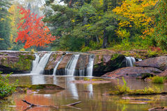 Autumn at Upper O Kun de Kun Falls Royalty Free Stock Photography