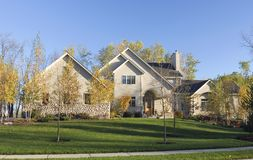 Autumn Upscale Home Stock Photo