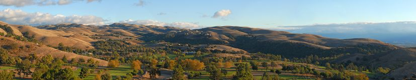 Autumn in the valley. California. Panorama  (#29). Autumn in the valley.Huge Panorama -  9 shots merged Stock Photos